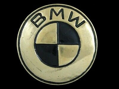 RJ03140 VINTAGE 1970s **BMW** CAR COMPANY SOLID BRASS BARON BELT BUCKLE