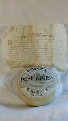 Antique Royce's Depilatory Hair Removal Early Paper Box Victorian