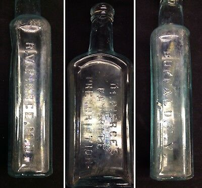 Antique AQUA BOTTLE DR. PIERCE'S FAVORITE PRESCRIPTION~ Quack Medicine (X7)