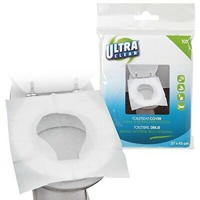 15 x Disposable Toilet Seat Covers Hygienic Flushable Travel Camping Pocket Size