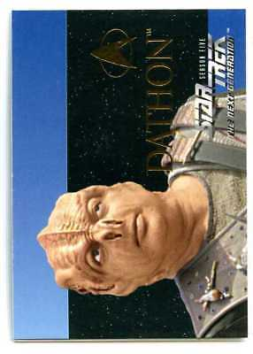 Star Trek The Next Generation TNG - S28 - 1996 - Dathon - Foil Embossed Card