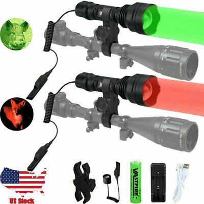 Zoomable 400 Yards LED Coyote Predator Hunting Flashlights Beam Torch Lamp