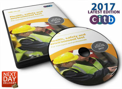 2017 New DVD CSCS CARD Test for Managers and Professionals Latest Edition UK