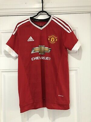 2015-16 Manchester United Home Shirt - Small -*Rooney 10 On Back*