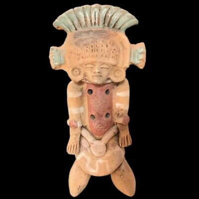 Rare Ancient Large Pre Columbian Ancient Statuette 900 B.C. - 300 B.C.
