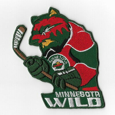 info for a95f8 7170d NHL Minnesota Wild Mascot Iron on Patches Embroidered Patch Applique Badge  Sew