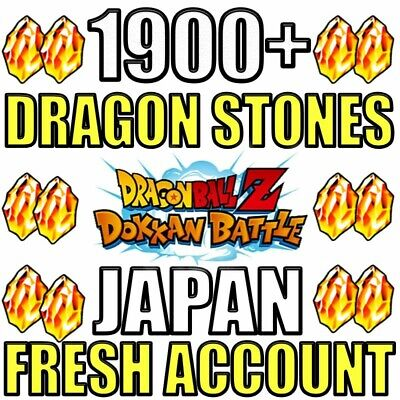 Dokkan Battle FRESH JP Account with 1900+ Dragon Stones