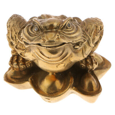 Retro Feng Shui Money Lucky Fortune Wealth Chinese Frog Toad Coin Decoration