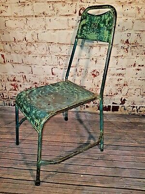 Vintage Industrial Metal Seat Chair Rustic Bar Cafe Restaurant Dining Stacking