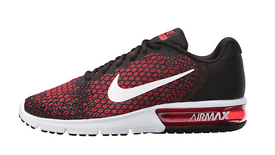 79633046b0 Nike Air Max Sequent 2 Black White Red 852461-006 Men's Running Shoes 10.5  NEW