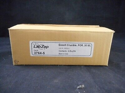 LABZAP Porcelain 30mL Gooch Crucible 20-21mm Filter Paper 45mm Height 37645 6/PK