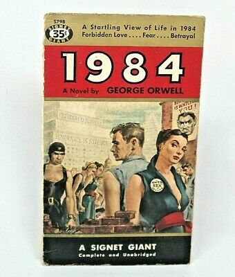 1984 George ORWELL Signet 1955 Printing Paperback COVER ONLY pulp art comic
