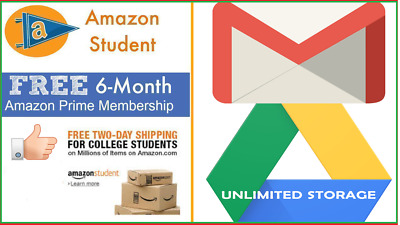 New Edu Email Student Amazon Prime 6 Months  Prime Video Google Drive Unlimited
