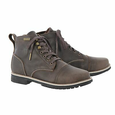 Oxford Digby Short Motorcycle Motorbike Touring Waterproof Leather Boots - Brown
