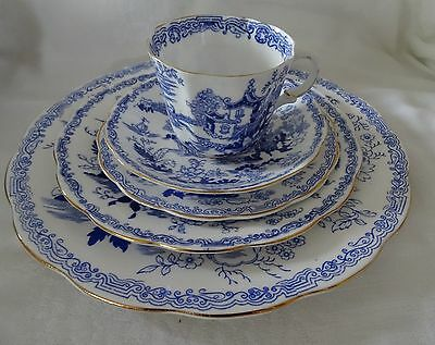 Royal Albert MIKADO 5 Pc Place Setting Dinner Salad Bread & Butter Cup & Saucer