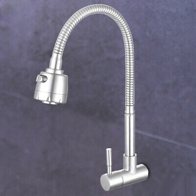 Solid Brass Spiral Basin Tap Cold Water Faucet Bathroom Shower Nozzle Tap
