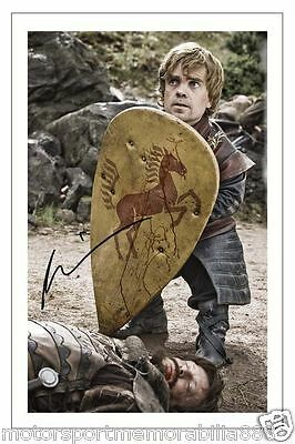 PETER DINKLAGE GAME OF THRONES SIGNED 6x4 PHOTO PRINT AUTOGRAPH TYRION LANNISTER