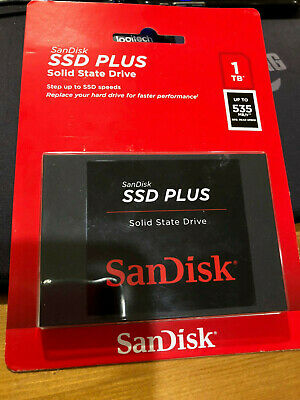 "SanDisk SSD Plus 1TB 2.5"" Internal SATA Solid State Drive SDSSDA-1T00-G26 - New!"