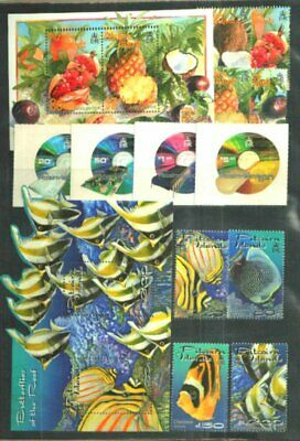 Pitcairn Islands 2001 Year Set Complete All Issues Xf Mnh