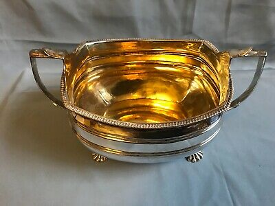 LARGE ANTIQUE ENGLISH STERLING SUGAR BOWL LONDON 1809 George III