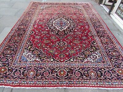 Shabby Chic Traditional Hand Made Persian Oriental Red Wool Carpet 346x252cm