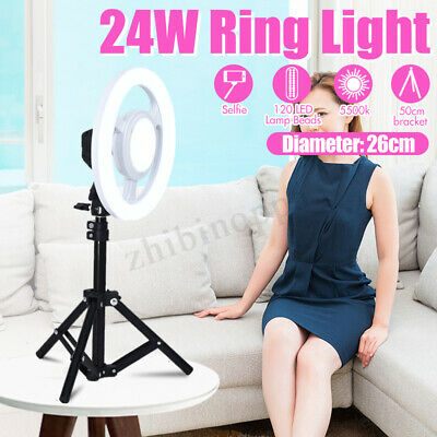26CM Studio Live Led Ring Light Phone Selfie Light Beauty Photograph w/ Triopd
