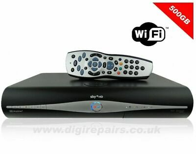 WiFi 500 Gb sky Plus HD Box with RF1 and RF2 Outputs  + REMOTE + HDMI CABLE