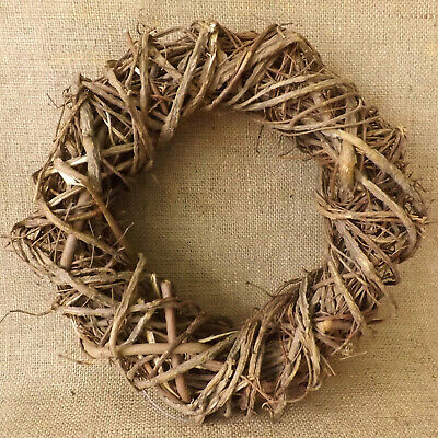 Round Natural Woven Wild Willow Wreath Home Wedding Easter Christmas Decoration