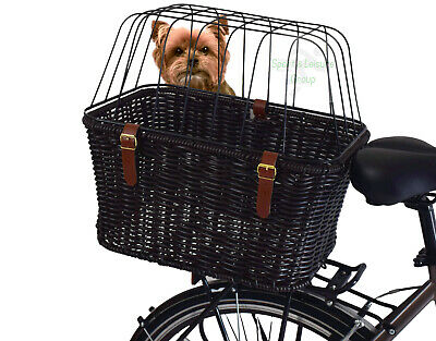 Pollyrattan Rear Bike Dog Basket / Travel Carrier For Cat / Puppy / Small Pet