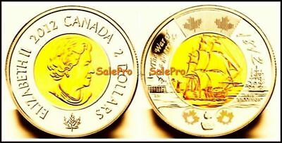 Canada 2012 Canadian 1812 War Toonie Hms Shannon Ship Queen $2 Dollar Coin Unc