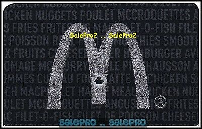 McDONALD 2013 CANADIAN SILVER MAPLE LEAF ARCH NUGGETS COLLECTIBLE GIFT CARD