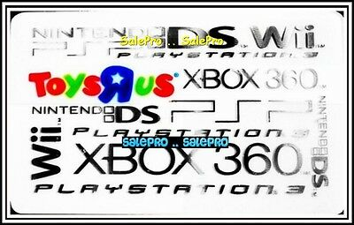 Toysrus Nintendo Ds Wii Xbox 360 Playstation 3 Psp Collectible Gift Card