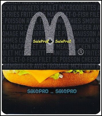 McDONALD 2013 CANADIAN SILVER MAPLE LEAF ARCH BURGER COLLECTIBLE GIFT CARD