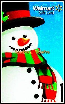 Walmart Christmas Happy Smiling Snowman Rare Collectible Gift Card