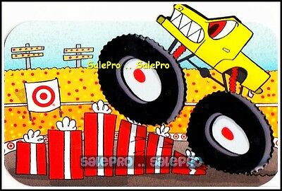 Target 2013 Monster Truck Cartoon Rare Embossed Collectible Gift Card