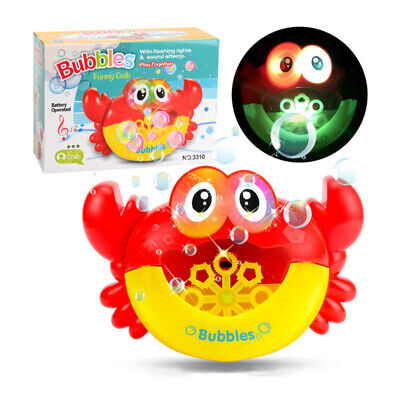 Crab Bubble Machine12 Songs Musical Bubble Maker Bath Baby Toy Fun Bath Shower