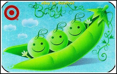 Target 2009 Usa Smiling Babies On Bean Seq #394782 Foil Collectible Gift Card
