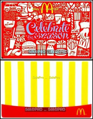 2x McDONALD CELEBRATE McCAFE OATMEAL FRENCH FRIES RARE COLLECTIBLE GIFT CARD LOT