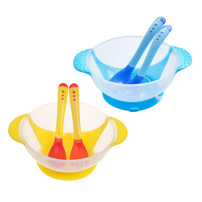 MagiDeal Baby Kids Suction Bowl 6pc/set Tableware Set Sucker Bowl/Spoon/Fork