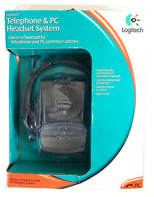 Logitech Deluxe Telephone & PC Headset System New 980114 980114-0000