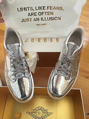 size 40 d79e9 ae5c1 Nike Air Jordan Retro 1 Low OG Pinnacle SZ 11 Metallic Silver PRM 852549-003