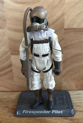 STAR WARS Saga Collection Firespeeder Pilot #22 Figure Complete & Stand 2005