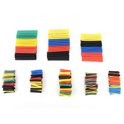 530pcs 2:1heat Shrink pipe package Line Kit 5 couleur 8'taille k