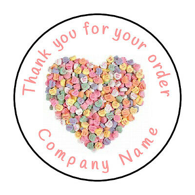 35, 105 X Personalised Sweet Shop Cone Stickers Thank You Business-37MM