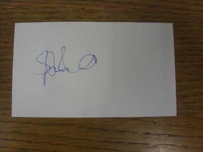 """1970-2000's Autographed White Card: Arsenal - Bould, Steve [Hand Signed 5""""x 3"""" P"""