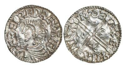 Aethelred II Exeter mint long cross type silver penny