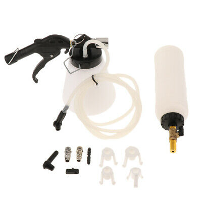 Air Brake Bleeder Kit Pneumatic Clutch Vacuum Hydraulic Fluid Fill Bottle