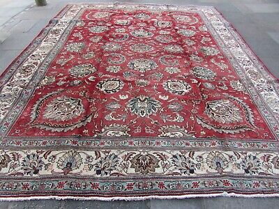Old Hand Made Traditional Persian Rug Oriental Wool Red Large Carpet 404x319cm