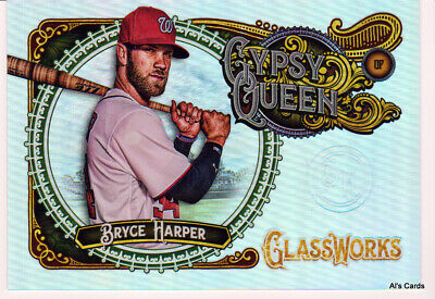 "2017 Topps Gypsy Queen Glassworks Bryce Harper Box Topper GW-BH ""THE SLAM""  ^"