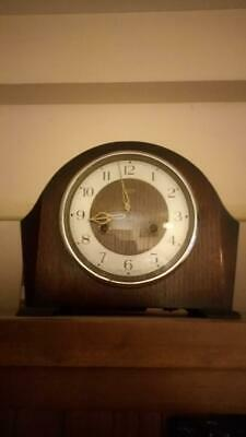 Vintage Smiths Enfield Mantle Clock Including Winder Key